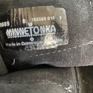 Leather Fringe Black boots